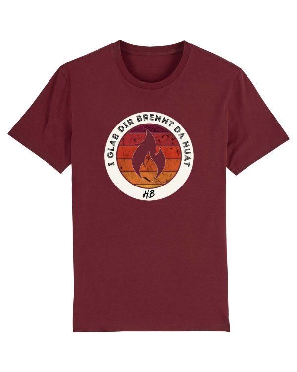 I Glab Dir Brennt Da Huat - Herren Premium T-Shirt - Dunkelrot - XXL