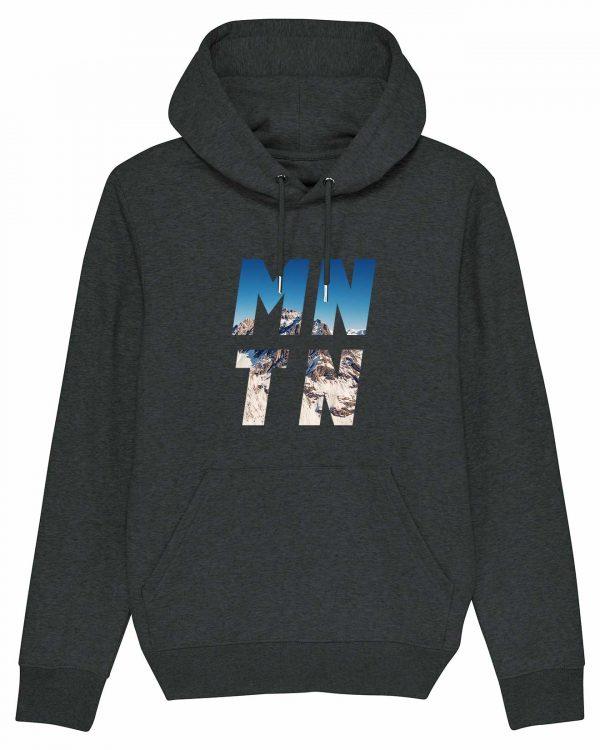 Mountain - Herren Premium Hoodie - Dunkelgrau Gesprenkelt - 3XL