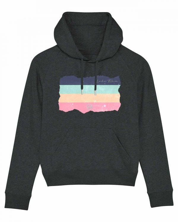 Locka Bleim - Damen Premium Hoodie - Dunkelgrau Gesprenkelt - XL