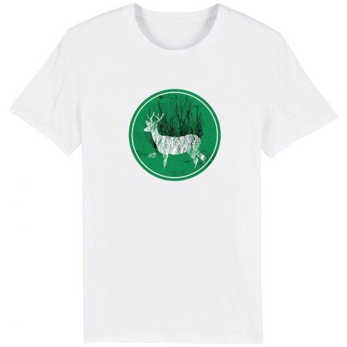 Hirsch im Wald - Herren Premium T-Shirt - Weiss - 3XL