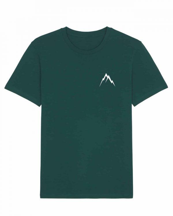 Gipfel-Glück Stickmotiv - Herren Premium T-Shirt - Waldgrün - XXL