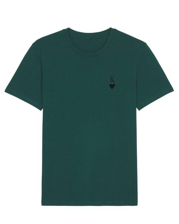 Herz-Kine Stickmotiv - Herren Premium T-Shirt - Waldgrün - XXL