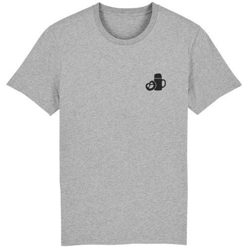 Maßkrug & Breze Stickmotiv - Herren Premium T-Shirt - Hellgrau Gesprenkelt - 3XL
