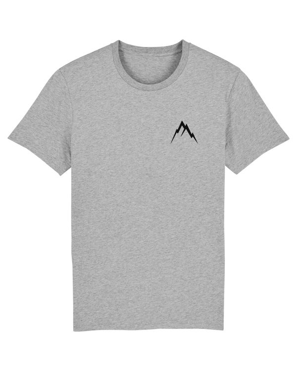 Gipfel-Glück Stickmotiv - Herren Premium T-Shirt - Hellgrau Gesprenkelt - 3XL