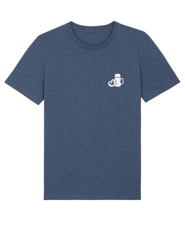 Maßkrug & Breze Stickmotiv - Herren Premium T-Shirt - Dunkelblau Gesprenkelt - XXL