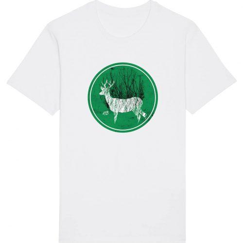 Hirsch im Wald - Herren Basic T-Shirt - Weiss - 4XL