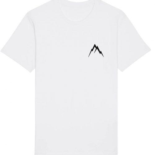 Gipfel-Glück Stickmotiv - Herren Basic T-Shirt - Weiß - 4XL
