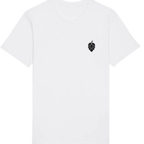 Hopfendolde Stickmotiv - Herren Basic T-Shirt - Weiß - 4XL
