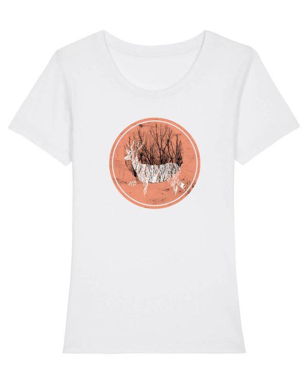 Hirsch im Wald - Damen Premium T-Shirt - Weiss - XXL