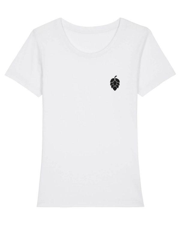 Hopfendolde Stickmotiv - Damen Premium T-Shirt - Weiß - XXL