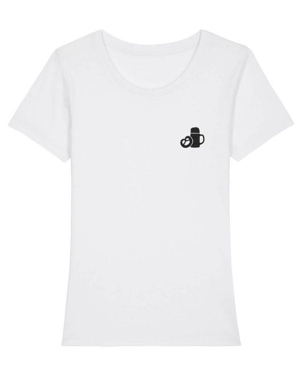 Maßkrug & Breze Stickmotiv - Damen Premium T-Shirt - Weiß - XXL