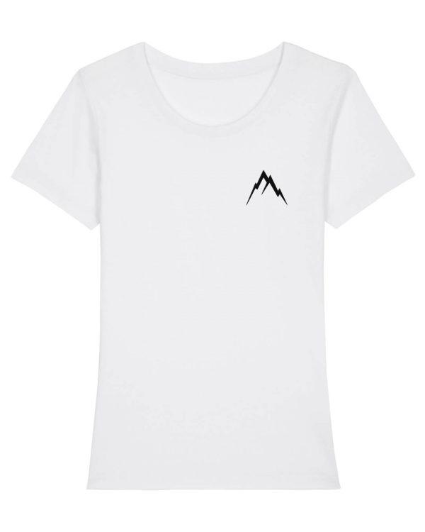 Gipfel-Glück Stickmotiv - Damen Premium T-Shirt - Weiß - XXL