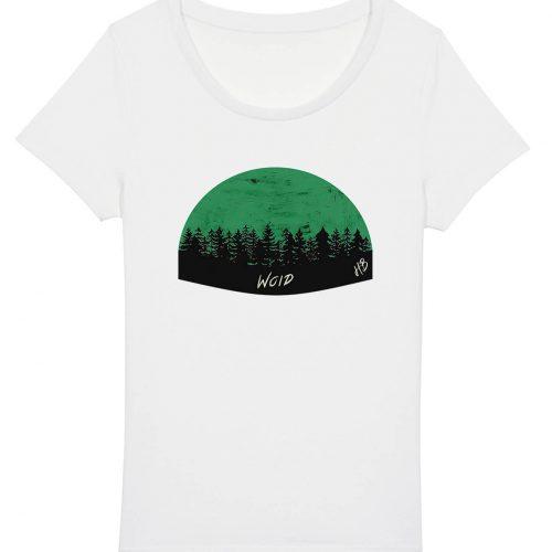 Woid - Damen Basic T-Shirt - Weiss - XXL