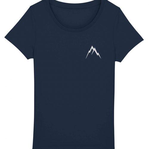 Gipfel-Glück Stickmotiv - Damen Basic T-Shirt - Dunkelblau - XXL
