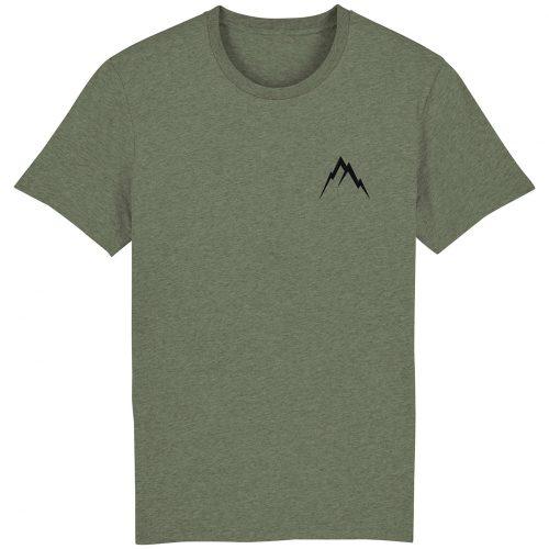 Gipfel-Glück Stickmotiv - Herren Premium T-Shirt - Moosgrün Gesprenkelt - XXL