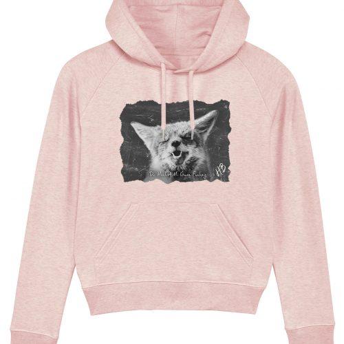 Du Machst Mi Ganz Fuchsig - Damen Premium Hoodie - Pink Gesprenkelt - XL