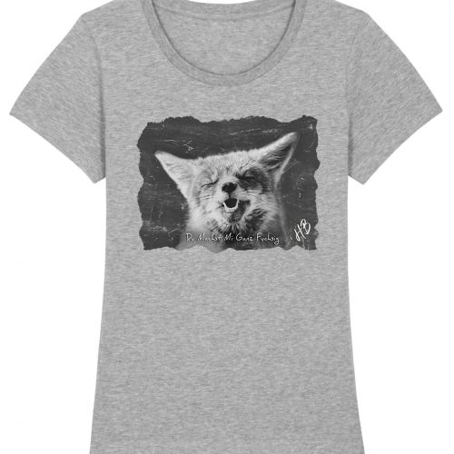 Du Machst Mi Ganz Fuchsig - Damen Premium T-Shirt - Hellgrau Gesprenkelt - XXL