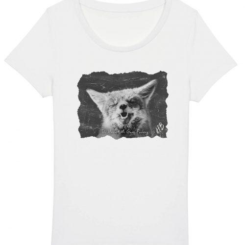 Du Machst Mi Ganz Fuchsig - Damen Basic T-Shirt - Weiß - XXL