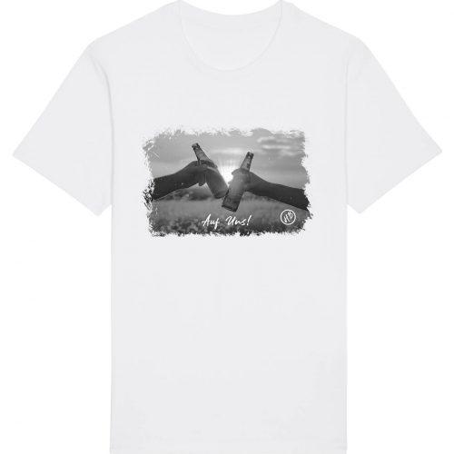 Auf Uns - Herren Basic T-Shirt - Weiß - 4XL