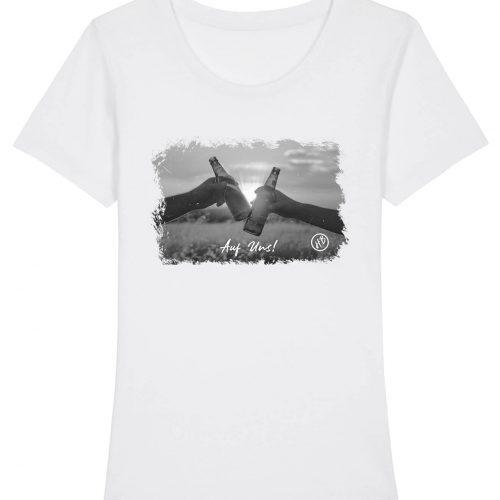 Auf Uns - Damen Premium T-Shirt - Weiß - XXL