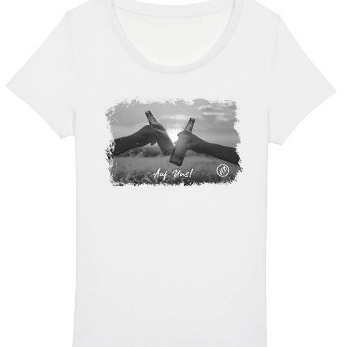 Auf Uns - Damen Basic T-Shirt - Weiß - XXL